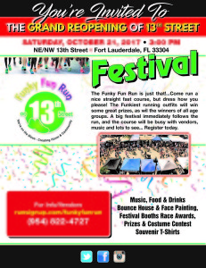 Grand Opening 13 Street Festival Flyer